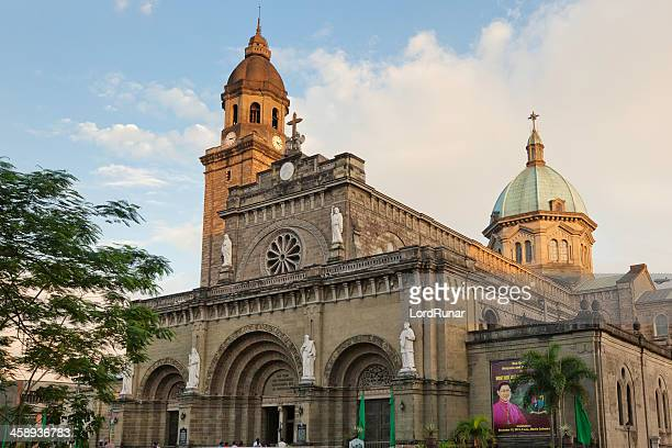 manila cathedral - old manila stock pictures, royalty-free photos & images