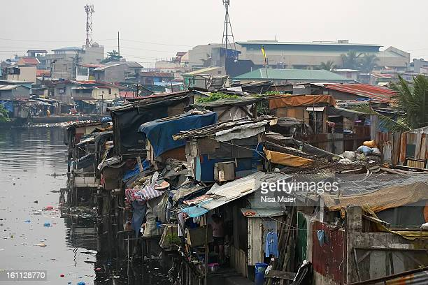 Manila has one of the biggest squatter areas in the world, the river is a giant rubbish dump.