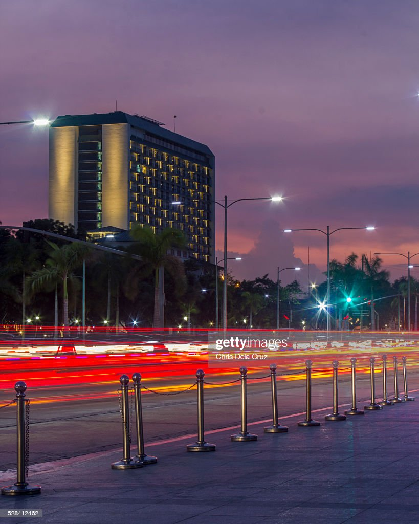 Manila Hotel at Sunset : Stock Photo