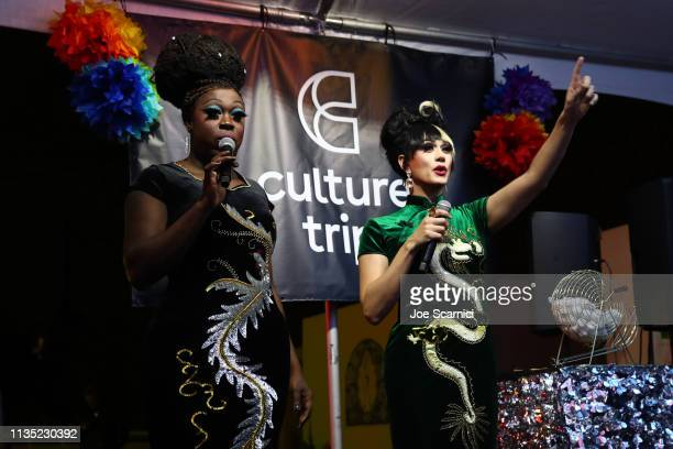 Manila Luzon and Bob the Drag Queen host a lip sync battle with Culture Trip as Part of Soho in SoCo for SXSW at Austin Motel on March 11 2019 in...