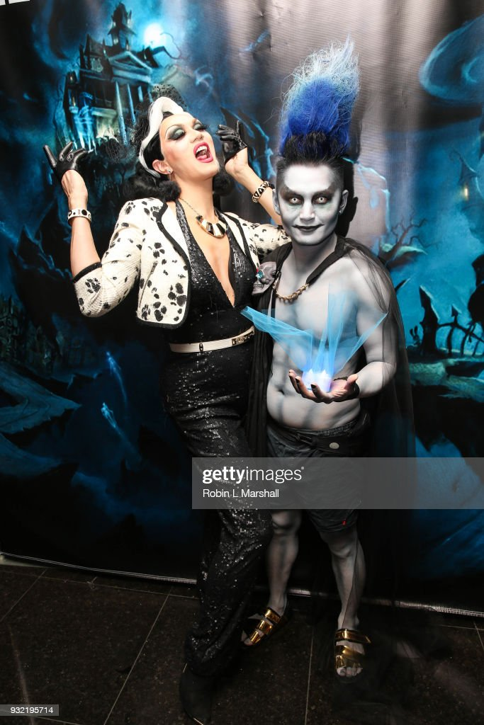 Manila Luzon and Kyle Chan attend Kyle Chan's Dark Disney Birthday Party at Sofitel Hotel on March 14, 2018 in Los Angeles, California.
