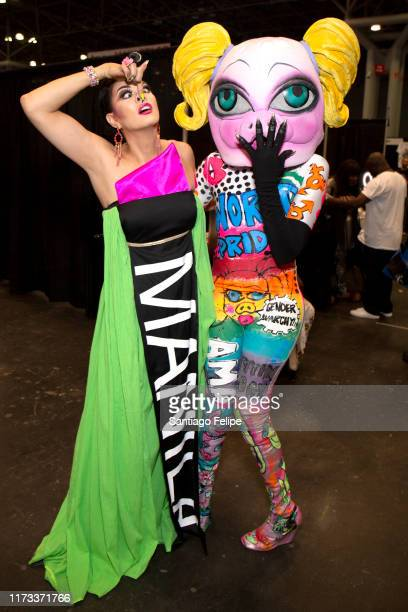 Manila Luzon and MX QWERRRK attend RuPaul's DragCon 2019 at The Jacob K Javits Convention Center on September 08 2019 in New York City
