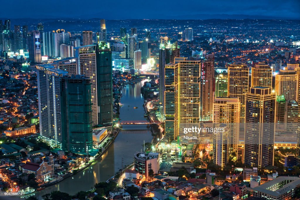 Manila Makati at Twilight : Stock Photo