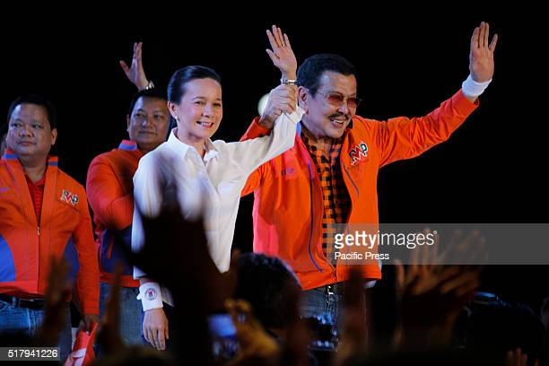 Manila Mayor Joseph Estrada running for reelection as Mayor endorses Grace Poe for President at his proclamation rally in Manila Estrada was the best...