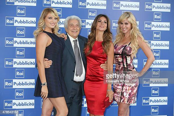Manila Nazzaro Michele Guardi Alessia Ventura and Elena Ballerini attend RAI Yearly TV Show Schedule at Villa Piccolomini on June 25 2015 in Rome...