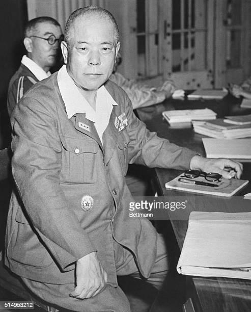 Manila P ICameraConscious War Criminalduring a recess period in his trial as a war criminal Lt Gen Tomoyuki Yamashita 'Tiger of Malaya' and former...