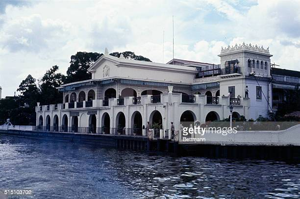 Exterior view of the Malacanang Palace home of the President as seen from the Pasig River