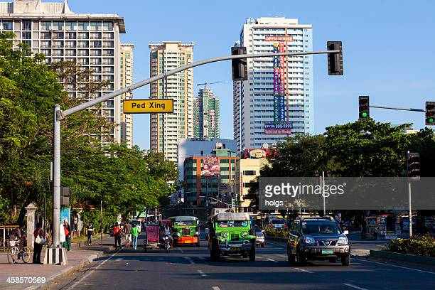 manila, philippines - jeepenys at the lights - manila philippines stock pictures, royalty-free photos & images