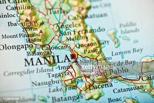 Manila Philippines Map Stock Photo | Getty Images