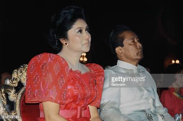 5/1/1983 Manila Philippines ORIGINAL CAPTION READS President Ferdinand E Marcos nad Roman Catholic Cardinal Jaime Sin share a laugh during the...