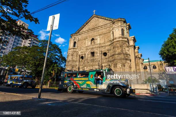 manila, philippines - jeepney stock pictures, royalty-free photos & images