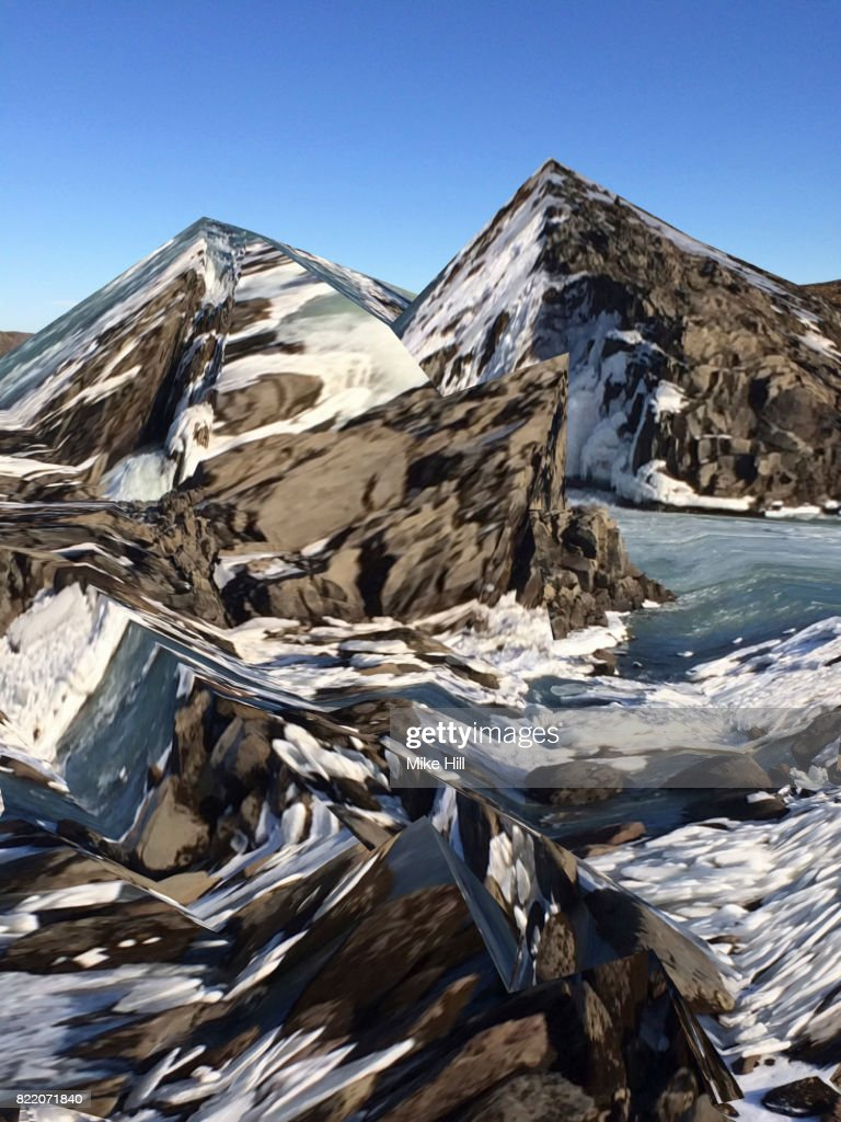Manipulated Image of an Icy Landscape : Stock Photo