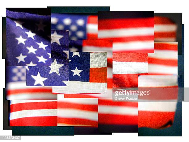 manipulated image of us flag - image manipulation stock pictures, royalty-free photos & images