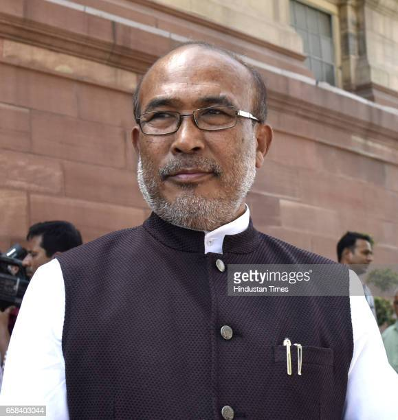 Manipur Chief Minister N Biren Singh at Parliament during the Budget Session on March 27 2017 in New Delhi India