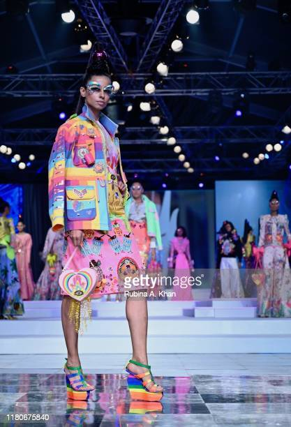 Manish Arora's collection at Lotus Make-Up India Fashion Week's Spring Summer 2020 Finale presented by the FDCI on October 12, 2019 in New Delhi,...