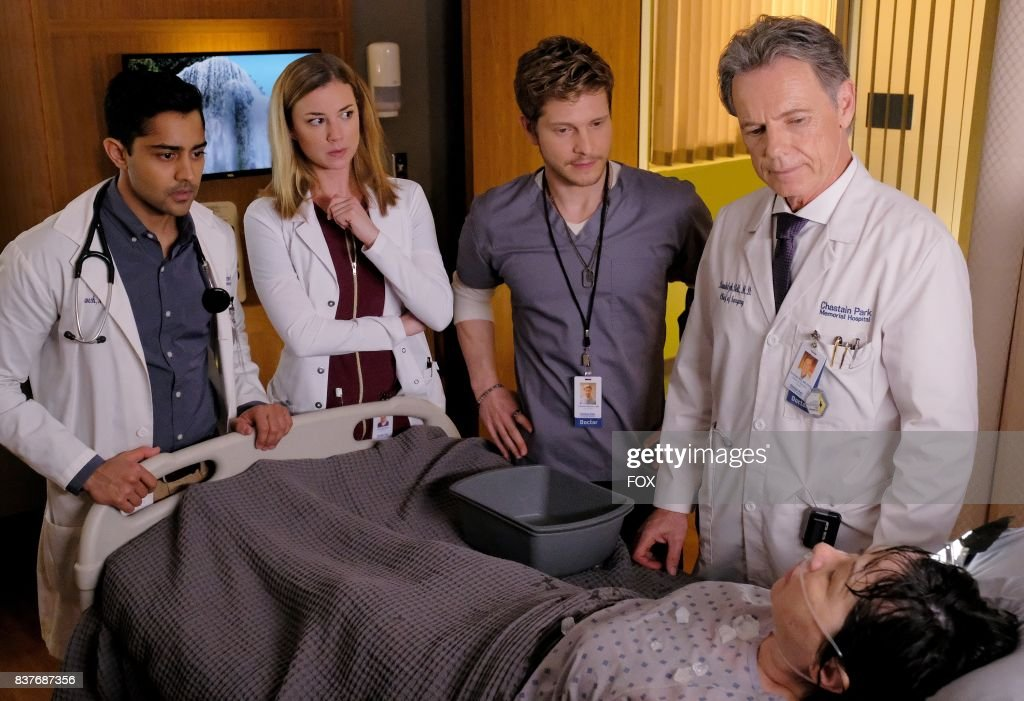 Manish Dayal, Emily VanCamp, Matt Czuchry and Bruce Greenwood in THE RESIDENT premiering midseason on FOX.