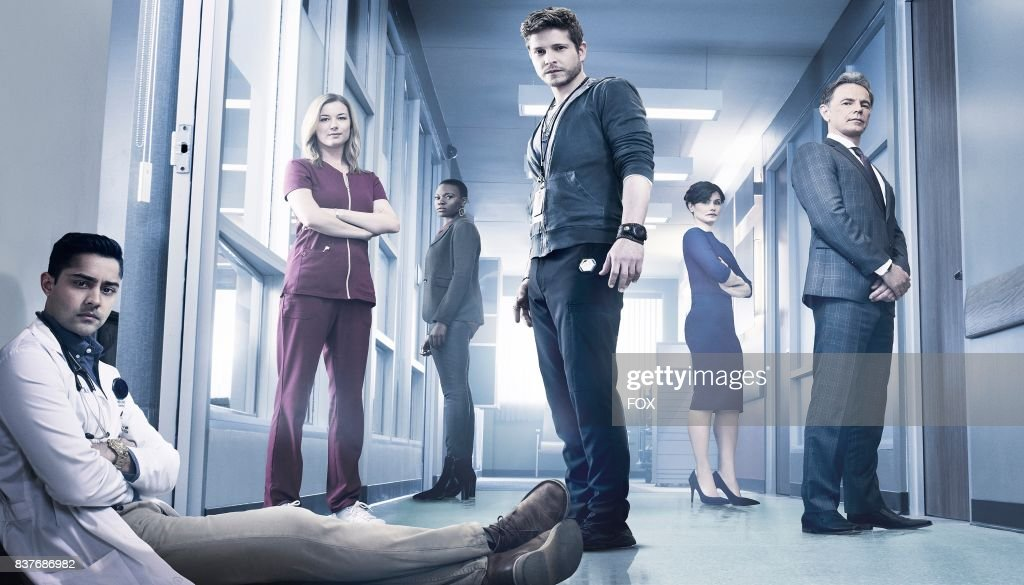 Manish Dayal, Emily VanCamp, Shaunette Renée Wilson, Matt Czuchry, Valerie Cruz and Bruce Greenwood in THE RESIDENT premiering midseason on FOX.