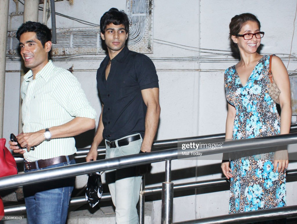 Manish Malhotra and Urmila Matondkar at the preview of the film Kites in Mumbai on May 20, 2010.