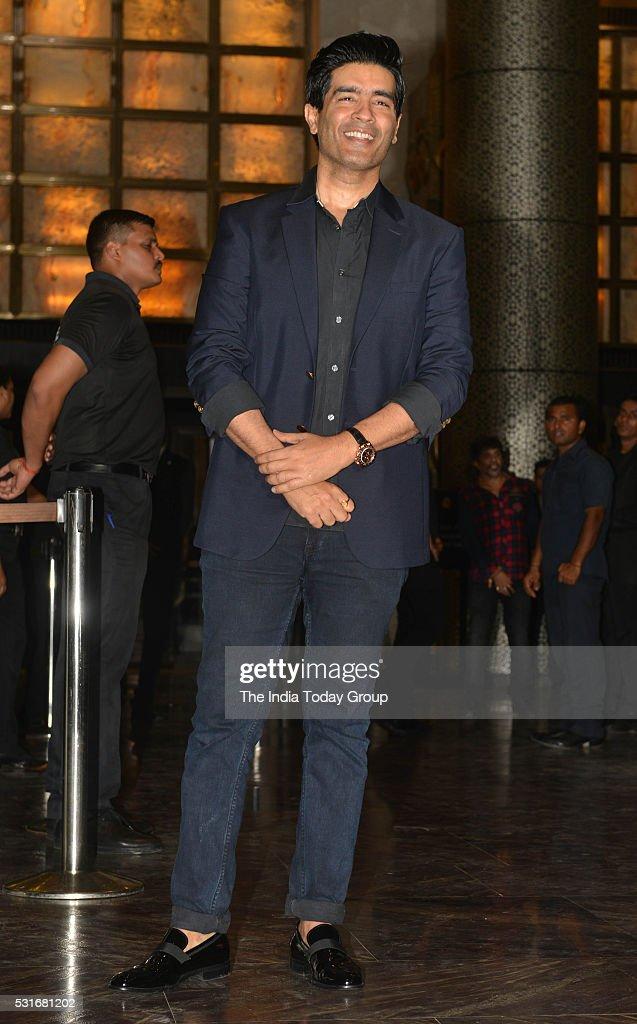 Manish Malhotra at Preity Zinta and Gene Goodenoughs wedding reception ceremony at St Regis Hotel in Mumbai