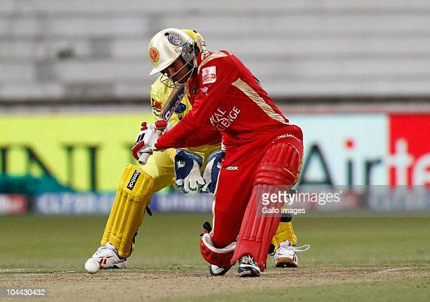 AFRICA SEPTEMBER 24 Manish Pandey during the Airtel Champions League Twenty20 semifinal match between Chennai Super Kings and Royal Challengers...