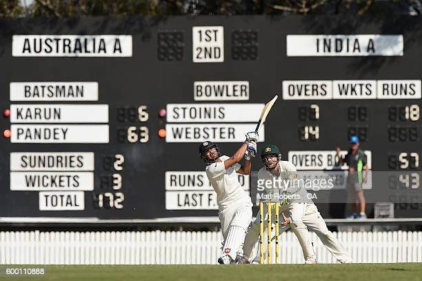Manish Pandey India A bats during the Cricket Australia Winter Series match between Australia A and India A at Allan Border Field on September 8 2016...