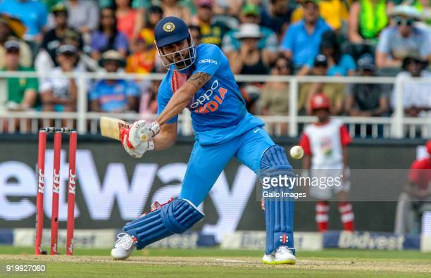 Manish Pandey of India of India during the 1st KFC T20 International match between South Africa and India at Bidvest Wanderers Stadium on February 18...