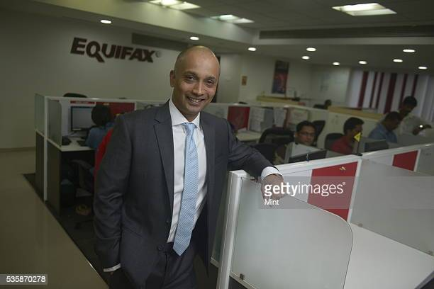 Manish Sinha CEO of Equifax poses during an exclusive interview on December 11 2015 in Mumbai India