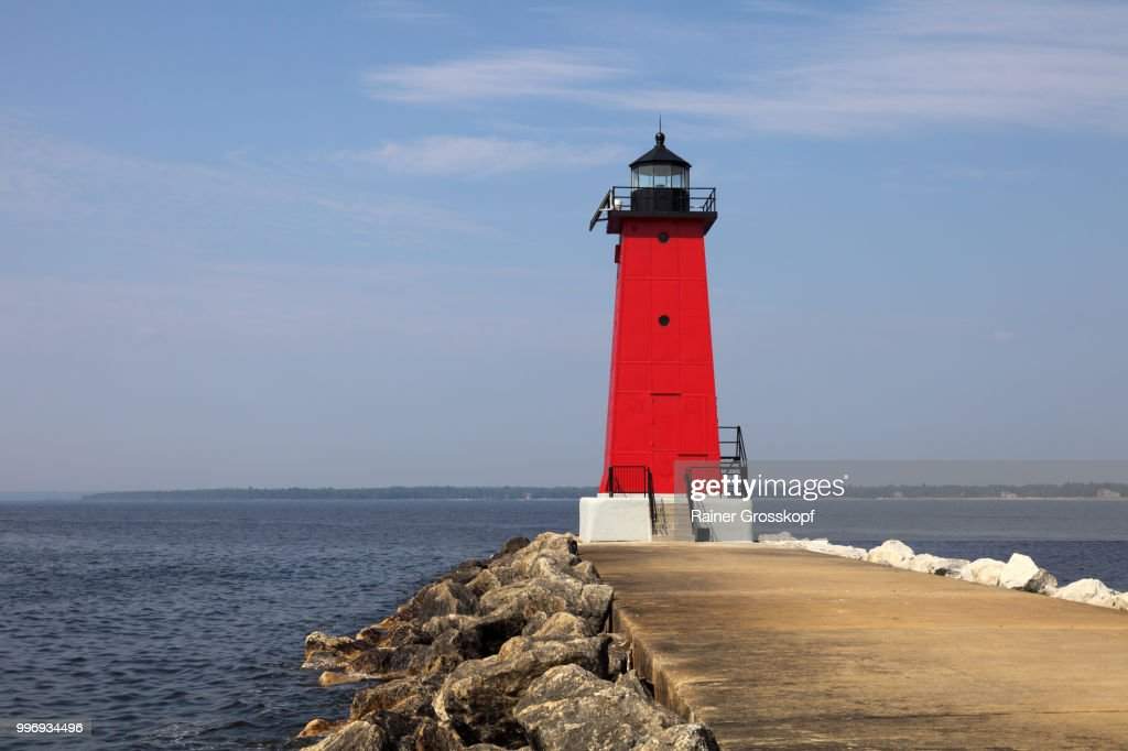 Manistique East Breakwater Light (1916) : Stock-Foto