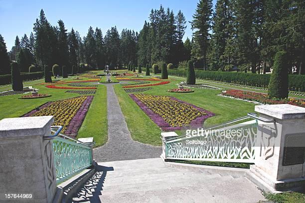 manito park gardens spokane washington - spokane stock pictures, royalty-free photos & images