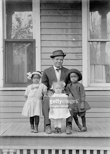 Manitoba Toby James had three daughters and two sons Pictured with him are his firstborn son Mauranee and his daughters Myrtha and Edna James worked...