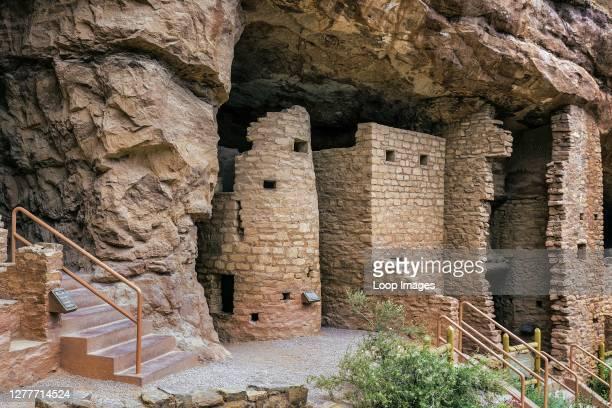 Manitou Cliff Dwellings of the Anasazi in Colorado.