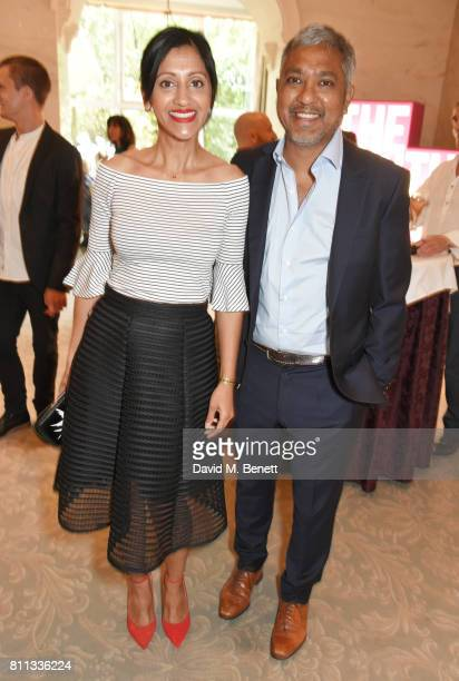 Manjinder Virk and Neil Biswas attend The South Bank Sky Arts Awards drinks reception at The Savoy Hotel on July 9 2017 in London England