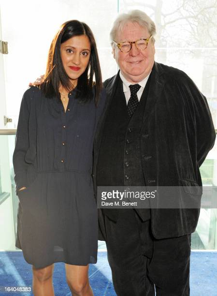 Manjinder Virk and Sir Alan Parker attend the First Light Awards at Odeon Leicester Square on March 19 2013 in London England