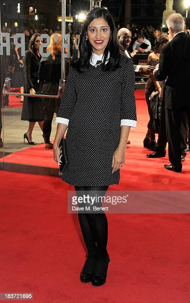 Manjinder Virk attends the European Premiere of Captain Phillips on the opening night of the 57th BFI London Film Festival at Odeon Leicester Square...