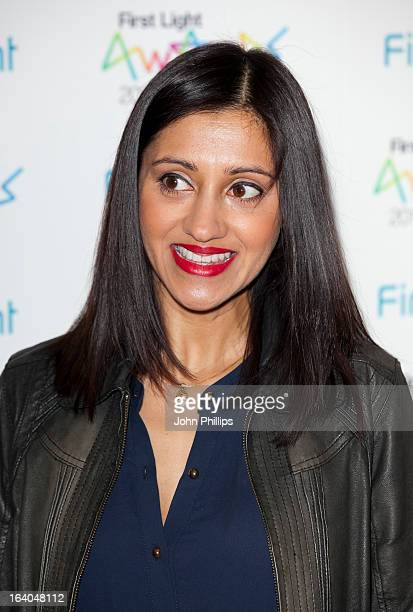 Manjinder Virk attends the First Light Awards at Odeon Leicester Square on March 19 2013 in London England