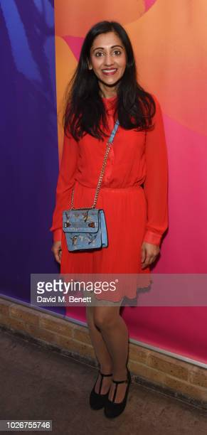 Manjinder Virk attends the press night after party for Dance Nation at The Almeida Theatre on September 4 2018 in London England