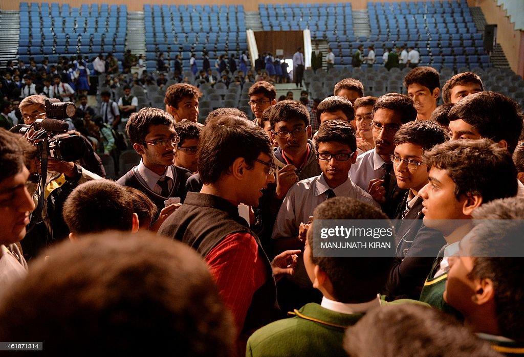 INDIA-EDUCATION-MATHEMATICS : News Photo