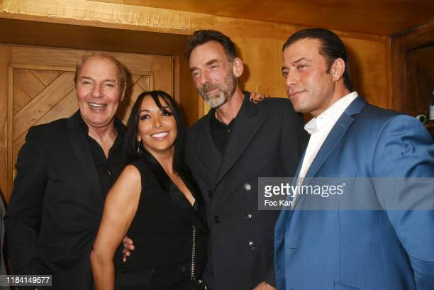 Manko Club director Tony Gomez Christie Blanc Alain Gossuin and Banana café director Lyes Halilou attend Jean Marie Bigard « Ogre » Perfume Launch...