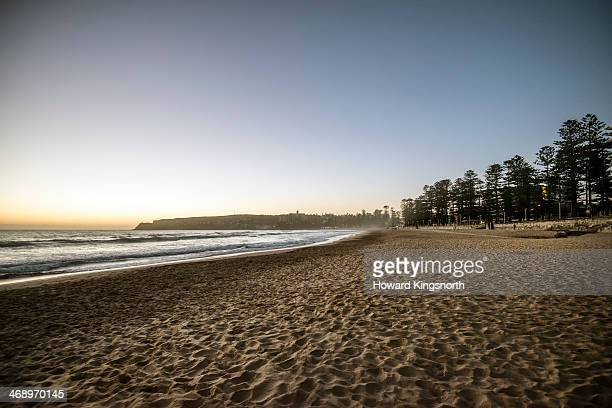 Manly beach at sunrise