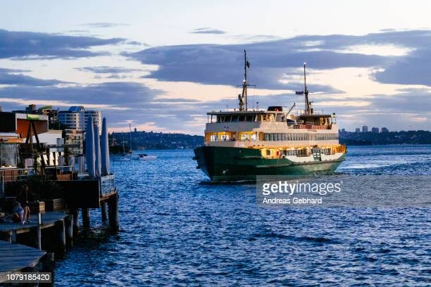 Manly ferry at dusk