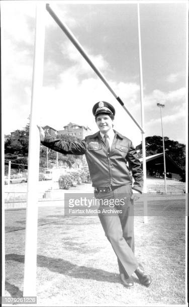 Manly footballer Charles Haggett who may be the replacement Hocker for Manly this weekend September 04 1986