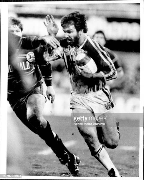 Manly Vs Penrith Final Five playoffPenrith's Warren Fenton on the boil during last night's game against Manly September 2 1985