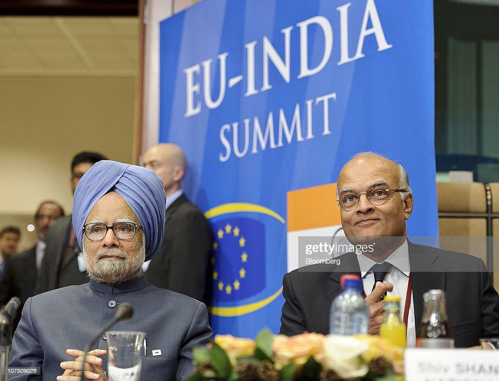Manmohan Singh, India's Prime Minister At EU-India Summit