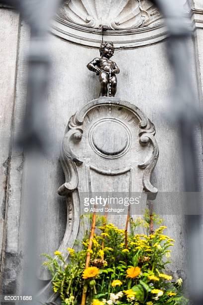 Manneken Pis statue in Brussels Belgium