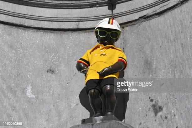 Manneken Pis Yellow Leader Jersey / Statue / Detail view / during the 106th Tour de France 2019 Team Presentation / Brussels Grand Départ 2019 /...