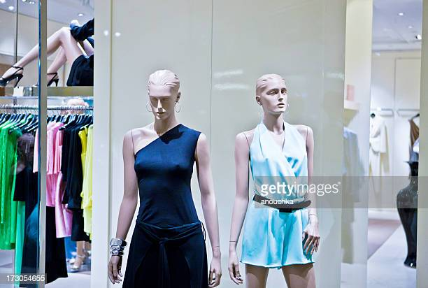 Mannequin at fashion store