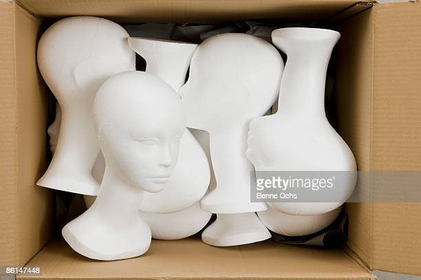 Mannequin busts in a box