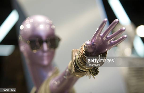 A mannequin displays bracelets at a Topshop retail store in London UK on Thursday May 20 2010 Sir Philip Green the billionaire owner of Arcadia Group...
