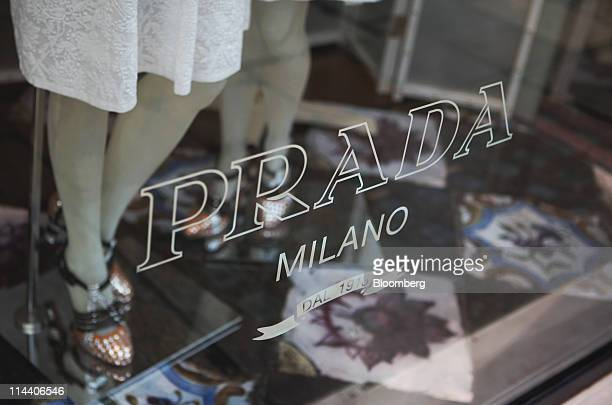 Mannequin displays Prada clothes for sale at the Prada boutique on Old Bond Street in London, U.K., on Thursday, May 19, 2011. Prada SpA, the Italian...