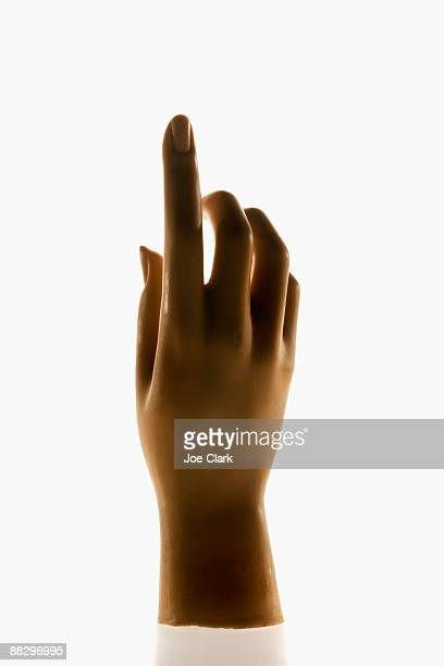 Mannequin hand pointing up